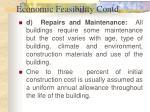 economic feasibility contd26