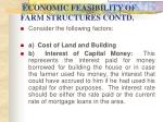 economic feasibility of farm structures contd