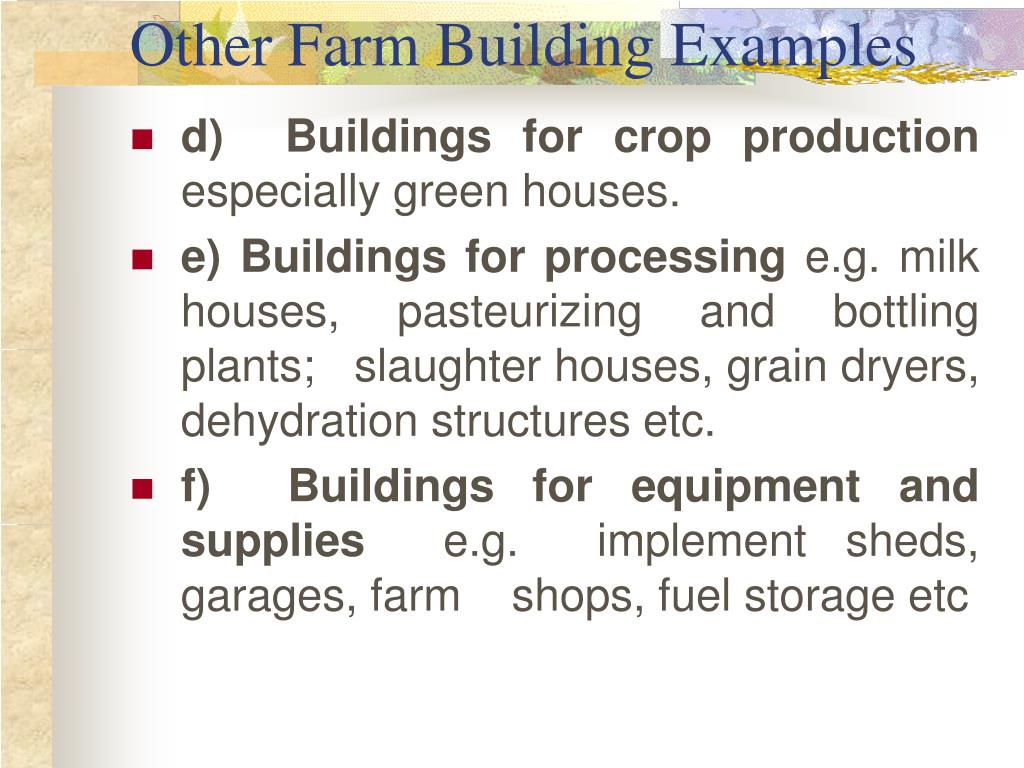 Other Farm Building Examples