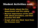 student activities cont