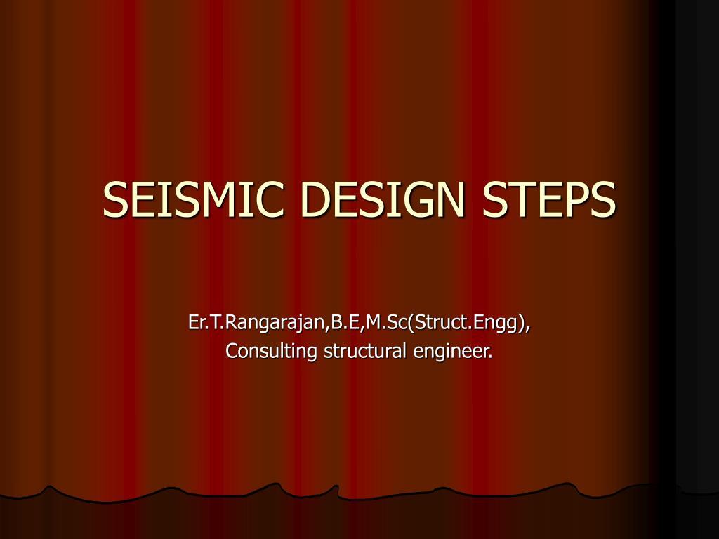 seismic design steps l.