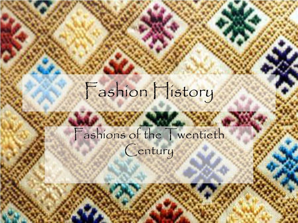fashion history l.