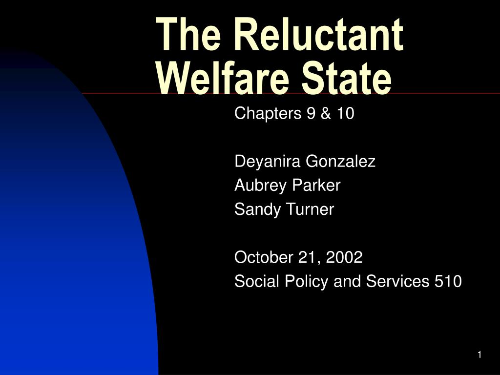 the reluctant welfare state l.