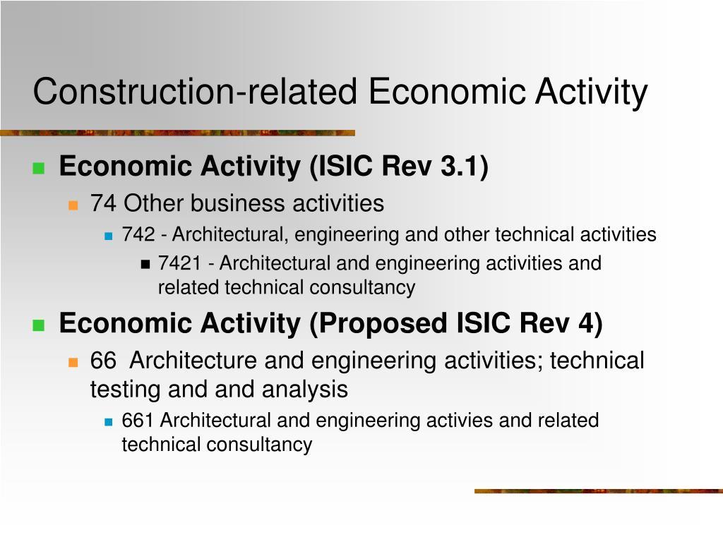 Construction-related Economic Activity