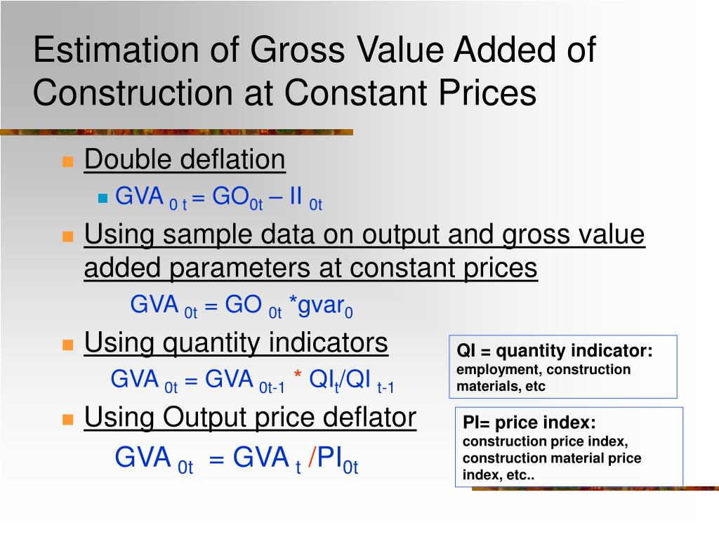 Estimation of Gross Value Added of Construction at Constant Prices