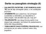 darbo su paaugliais strategija 6