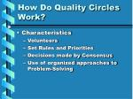 how do quality circles work