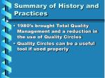 summary of history and practices12