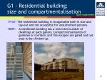 g1 residential building size and compartmentalisation