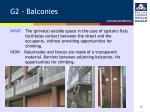 g2 balconies