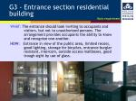 g3 entrance section residential building