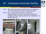 g7 communal storeroom facility