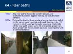 k4 rear paths