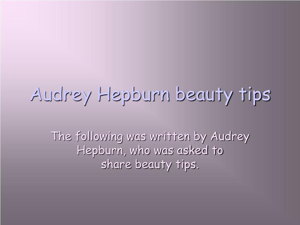 audrey hepburn beauty tips l.