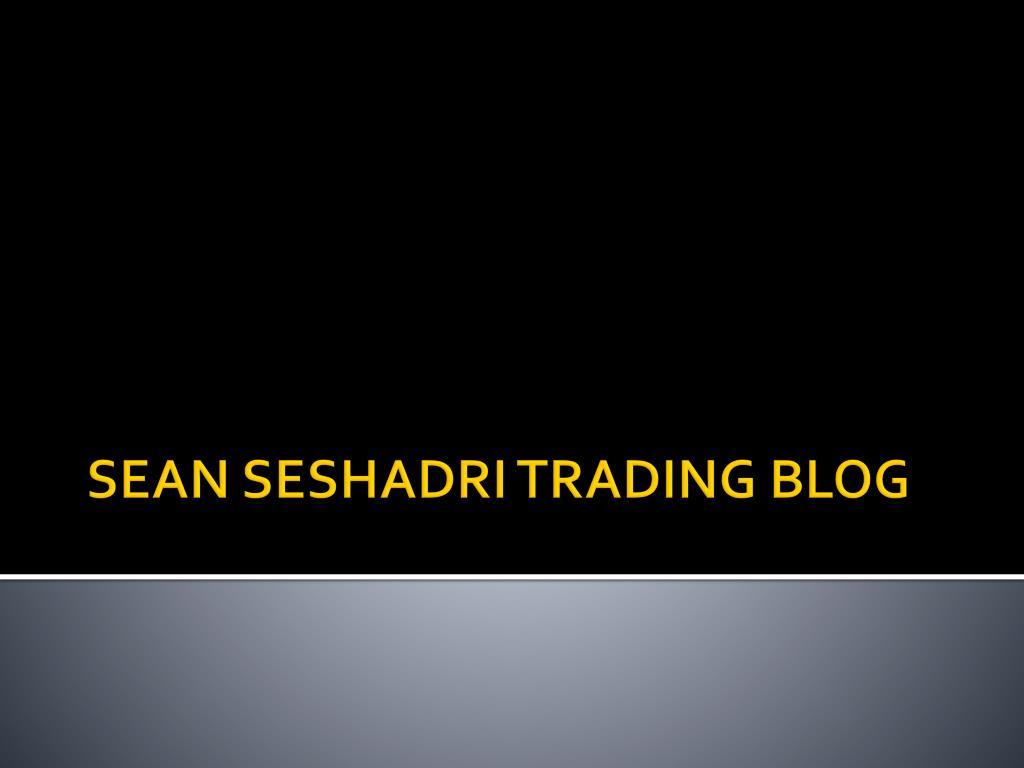 sean seshadri trading blog l.