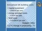 annualised uk building costs