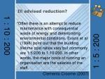 ill advised reduction