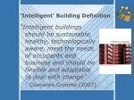 intelligent building definition