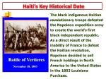 haiti s key historical date