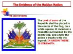 the emblems of the haitian nation