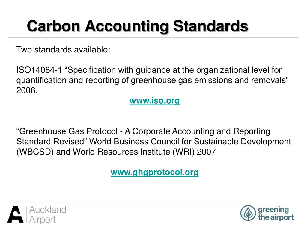 Carbon Accounting Standards
