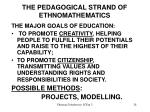the pedagogical strand of ethnomathematics