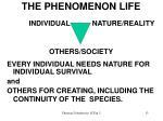 the phenomenon life