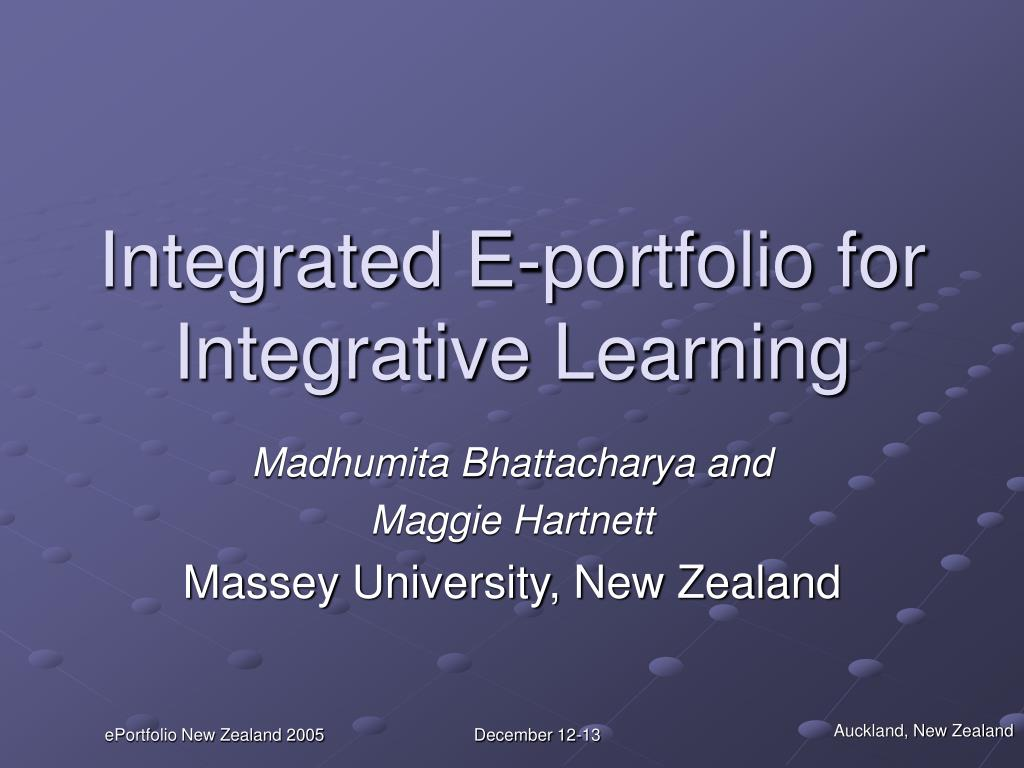 integrated e portfolio for integrative learning l.