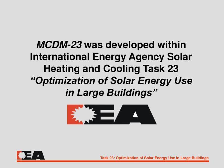MCDM-23