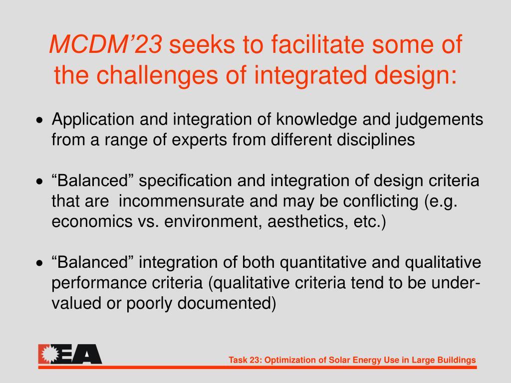 MCDM'23