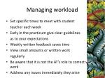managing workload