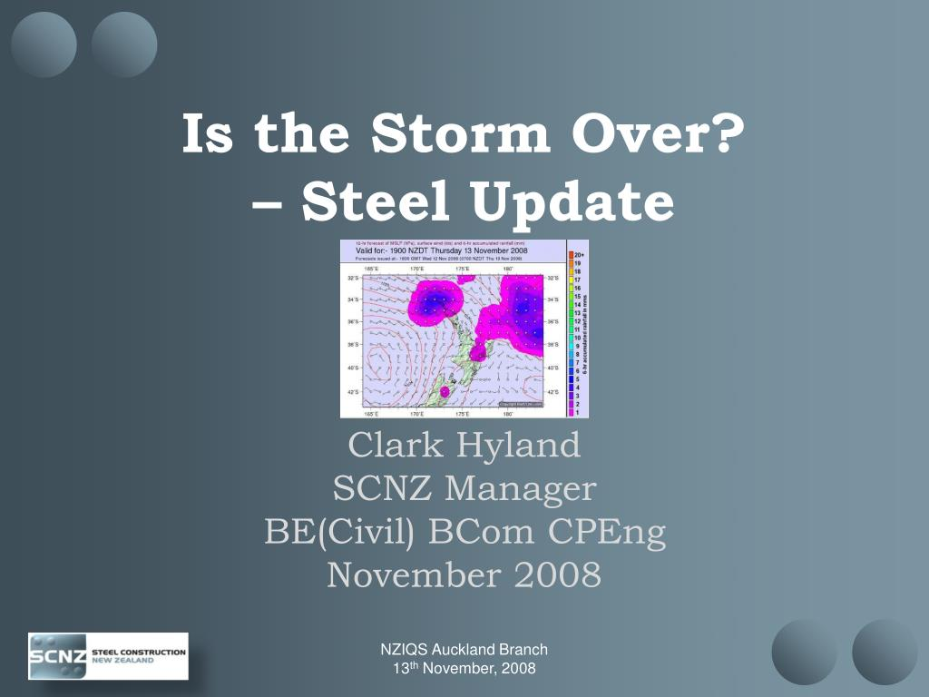 is the storm over steel update l.