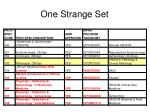 one strange set