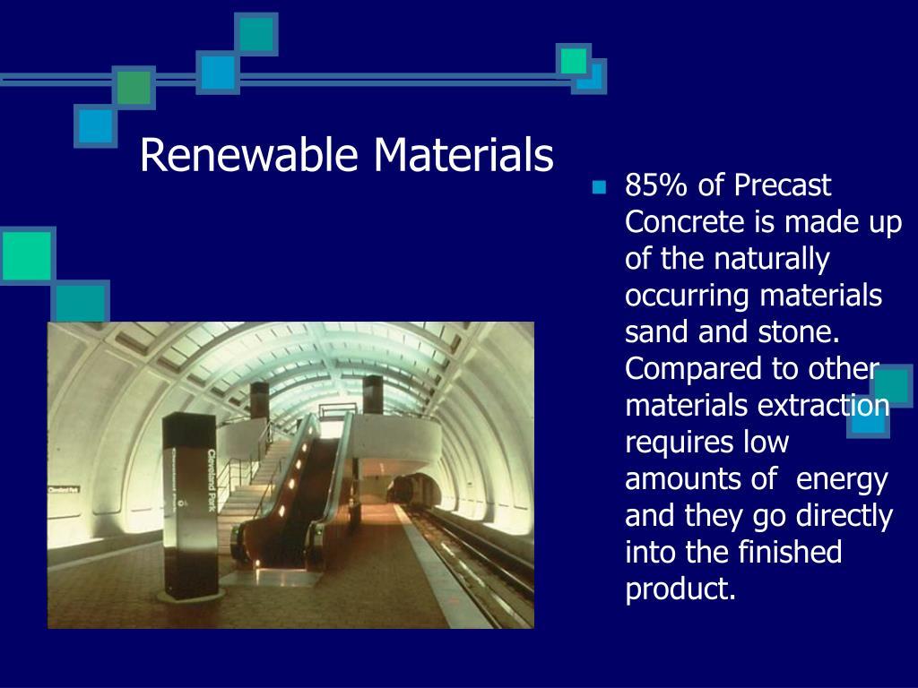 Renewable Materials