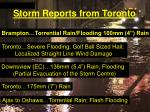 storm reports from toronto