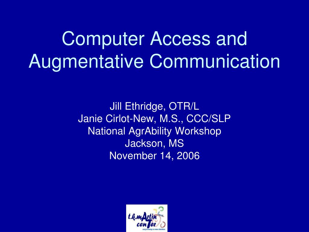 computer access and augmentative communication l.