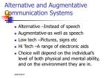 alternative and augmentative communication systems