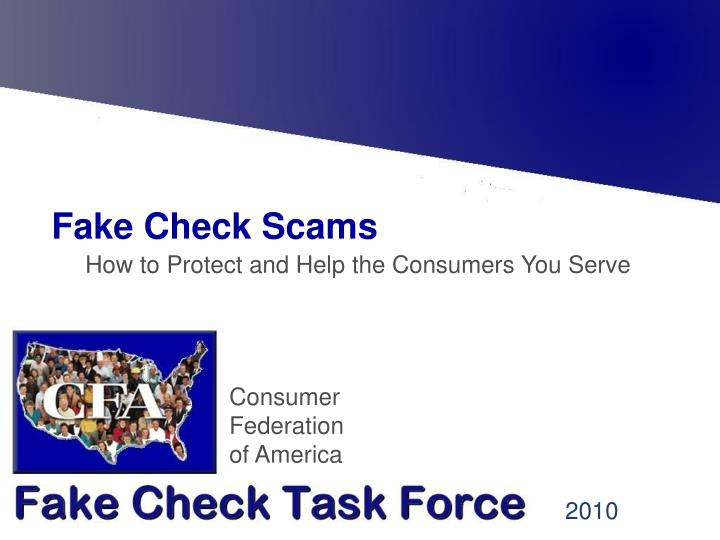 fake check scams n.