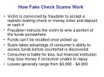 how fake check scams work