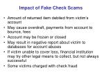 impact of fake check scams