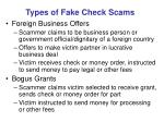 types of fake check scams1