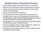 western union transaction process