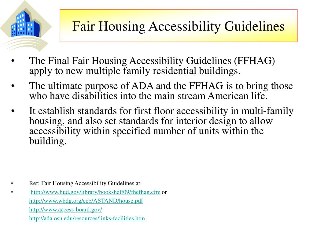 Fair Housing Accessibility Guidelines