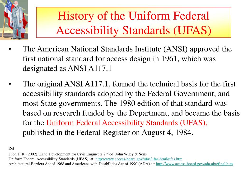 History of the Uniform Federal Accessibility Standards (UFAS)