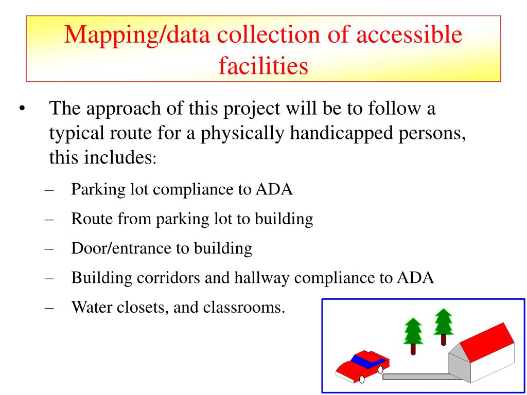 Mapping/data collection of accessible facilities