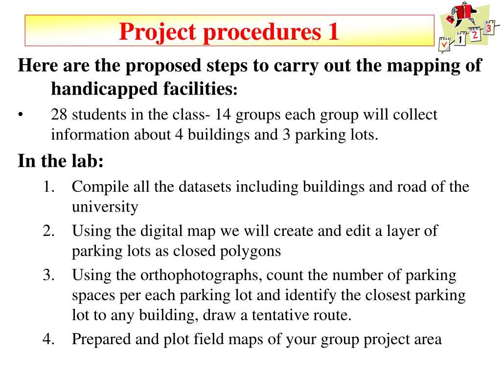 Project procedures 1