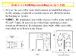 route to a building according to the ufas