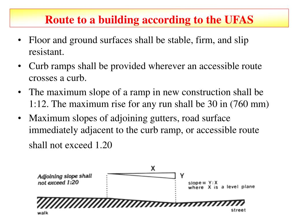 Route to a building according to the