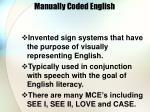 manually coded english
