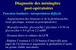 diagnostic des m ningites post op ratoires11